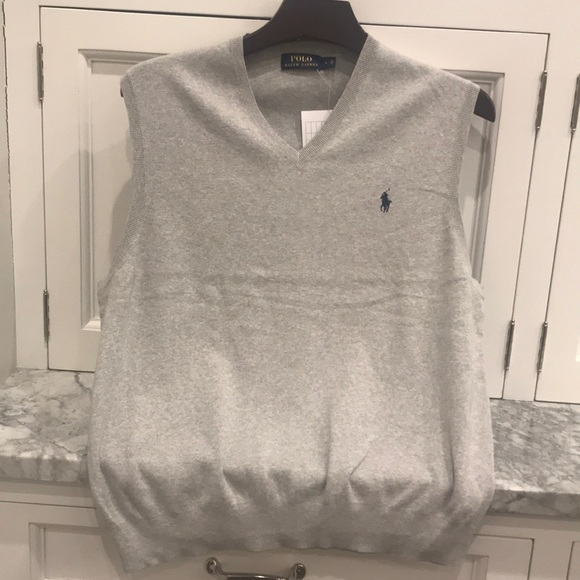 Polo Ralph Lauren men's gray vest
